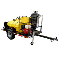 Cam Spray UV3030H-HOT Trailer Mounted Gas Hot Water Pressure Washer with 100' Hose - 3000 PSI; 3.0 GPM