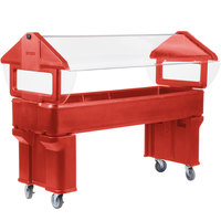 Carlisle 660605 Red 6' Six Star Open Base Portable Food / Salad Bar