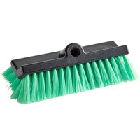 Carlisle 36129775 Flo Thru 10 inch Green Unflagged Dual Surface Vehicle and Wall Cleaning Brush