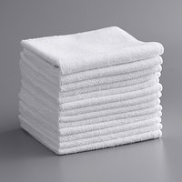 Knuckle Buster MFMP12WH 12 inch x 12 inch White Microfiber Cleaning Cloth