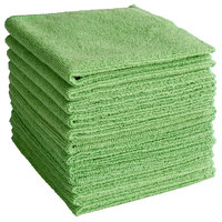 Knuckle Buster MFMP12GN 12 inch x 12 inch Green Microfiber Cleaning Cloth