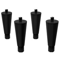 Hoshizaki LP-6 6 inch Black Legs for Ice Maker / Water Dispensers   - 6/Set