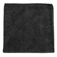 Knuckle Buster MFMP16BK 16 inch x 16 inch Black Microfiber Cleaning Cloth