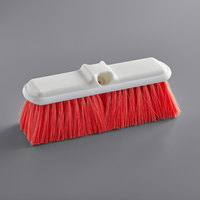 Carlisle 4005005 Sparta Flo Thru 9 1/2 inch Red Flagged Vehicle and Wall Cleaning Brush