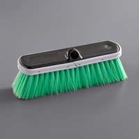 Carlisle 3646875 Flo Thru 10 inch Green Flagged Vehicle and Wall Cleaning Brush