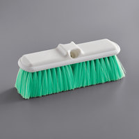 Carlisle 4005075 Sparta Flo Thru 9 1/2 inch Green Flagged Vehicle and Wall Cleaning Brush