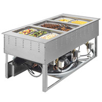 Vollrath FC-6HC-02208 Two Well Modular Drop-In Hot / Cold Food Well with Manual Manifold Drain - 120/208-240V