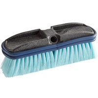 Carlisle 3646814 Flo Thru 10 inch Blue Flagged Vehicle and Wall Cleaning Brush