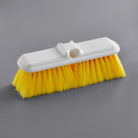 Carlisle 4005004 Sparta Flo Thru 9 1/2 inch Yellow Flagged Vehicle and Wall Cleaning Brush