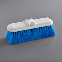 Carlisle 4005014 Sparta Flo Thru 9 1/2 inch Blue Flagged Vehicle and Wall Cleaning Brush