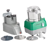 Avamix Revolution CFBB342D Combination Food Processor with 3 Qt. Stainless Steel Bowl, Continuous Feed & 2 Discs - 1 hp