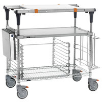 Metro MS1830-FGBR-PK2 PrepMate MultiStation with Accessory Pack and Galvanized and Brite Zinc Wire Shelving - 32 inch x 19 3/8 inch x 39 1/8 inch