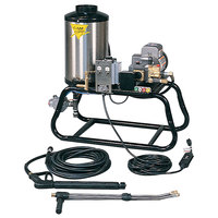 Cam Spray 1000STLEF Stationary LP Gas Fired Electric Hot Water Pressure Washer with 50' Hose - 1000 PSI; 3.0 GPM