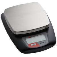 Taylor TE11FTP 11 lb. Compact 5 1/4 inch x 5 1/4 inch Stainless Steel Digital Portion Control Scale