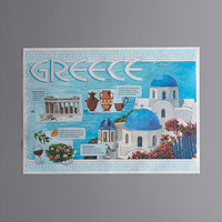 Choice 10 inch x 14 inch Greek Themed Paper Placemat - 1000/Case