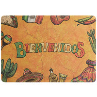 Choice 10 inch x 14 inch Mexican Themed Paper Placemat - 1000/Case