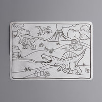 Choice 10 inch x 14 inch Kids Dinosaur Double Sided Interactive Placemat   - 1000/Case
