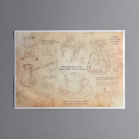 Choice 10 inch x 14 inch Coffee Themed Paper Placemat - 1000/Case