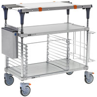 Metro MS1836-FGFG-PK2 PrepMate MultiStation with Accessory Pack and Galvanized Shelving - 38 inch x 19 3/8 inch x 39 1/8 inch