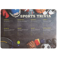 Choice 10 inch x 14 inch Sports Trivia Paper Placemat - 1000/Case