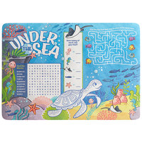 Choice 10 inch x 14 inch Kids Under the Sea Themed Interactive Placemat - 1000/Case