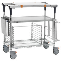Metro MS1848-FGBR-PK2 PrepMate MultiStation with Accessory Pack and Galvanized and Brite Zinc Wire Shelving - 50 inch x 19 3/8 inch x 39 1/8 inch