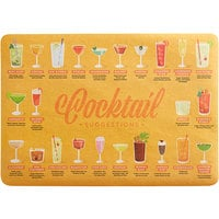 Choice 10 inch x 14 inch Cocktail Suggestions Paper Placemat   - 1000/Case