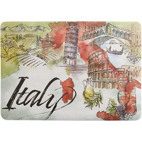Choice 10 inch x 14 inch Italian Themed Paper Placemat   - 1000/Case