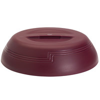 Cambro MDSLD9487 Shoreline Collection Cranberry 10 1/4 inch Low Profile Insulated Dome Plate Cover - 12/Case