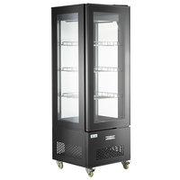 Avantco GD4C-15-HC Black 4-Sided Glass Refrigerated Display Case