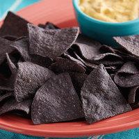 Mission 2 lb. Blue Triangle Corn Tortilla Chips - 6/Case