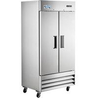 Avantco A-35F-HC 39 1/2 inch Solid Door Reach-In Freezer