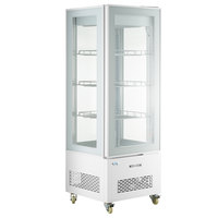 Avantco GD4C-15-HC White 4-Sided Glass Refrigerated Display Case