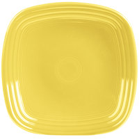 Homer Laughlin 920320 Fiesta Sunflower 9 1/4 inch Square Luncheon Plate - 12/Case