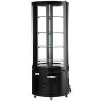 Avantco BCR-15-HC Black Circular Glass Refrigerated Display Case