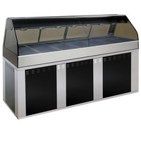 Alto-Shaam EU2SYS-96/PR BK Black Cook / Hold / Display Case with Curved Glass and Base - Right Self Service, 96 inch