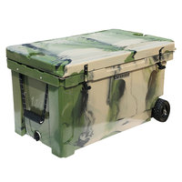 CaterGator CG100CAMW Camouflage 100 Qt. Mobile Rotomolded Extreme Outdoor Cooler / Ice Chest