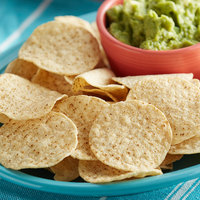 Mission 2 lb. Unsalted White Round Corn Tortilla Chips - 6/Case