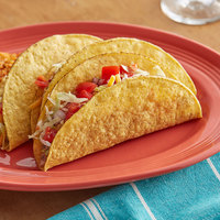 Mission 25-Pack 7 inch Yellow Corn Hard Taco Shell - 8/Case