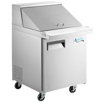Avantco APT-27M-HC 27 inch 1 Door Mega Top Refrigerated Sandwich Prep Table