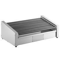 Avantco RG1850RC 50 Slanted Hot Dog Roller Grill with 11 Non-Stick Rollers and Rear Mounted Controls - 120V, 1460W