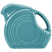 Homer Laughlin 475107 Fiesta Turquoise 5 oz. Mini Disc Creamer Pitcher - 4/Case
