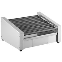 Avantco RG1830RC 30 Slanted Hot Dog Roller Grill with 11 Non-Stick Rollers and Rear Mounted Controls - 120V, 910W