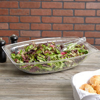 Carlisle OSB17807 15 Qt. Clear Oval Acrylic Pebbled Salad Bowl