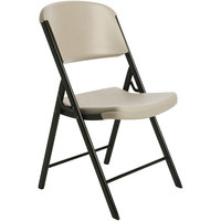 Lifetime 80186 Putty Classic Folding Chair - 4/Pack