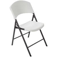 Lifetime 42810 White Light Duty Folding Chair   - 4/Pack