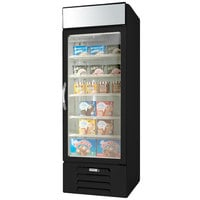 Beverage-Air MMF23HC-1-B-IQ MarketMax 27 inch Black Glass Door Merchandiser Freezer with Electronic Lock