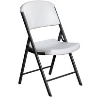 Lifetime 42804 White Classic Folding Chair   - 4/Pack