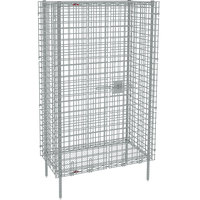 Metro SEC33S Stainless Steel Stationary Wire Security Cabinet 38 1/2 inch x 21 1/2 inch x 66 13/16 inch