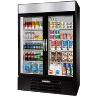 Beverage-Air MMR44HC-1-B-IQ MarketMax 47 inch Black Refrigerated Glass Door Merchandiser with Electronic Lock